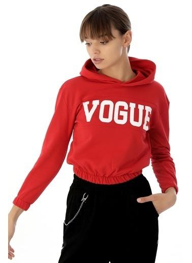 Emjey Vogue Baskılı Sweat Kırmızı